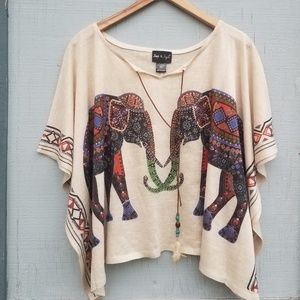 Step in Style | Elephant Poncho Pullover Cream